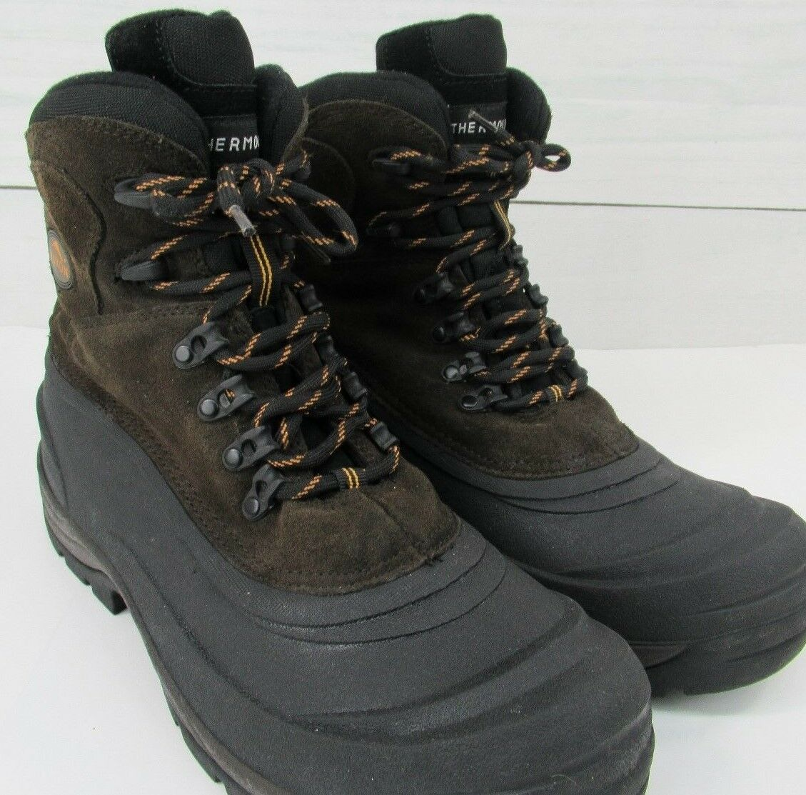 YUKON Men's WHISTLER II Pac Snow Suede Leather   Rubber waterproof Winter Boots