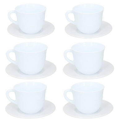 SYB-04 Dishwasher and Microwave Safe Coffee for Latte Cappuccino Tea 6 Oz Ceramic Espresso Cups with Saucers