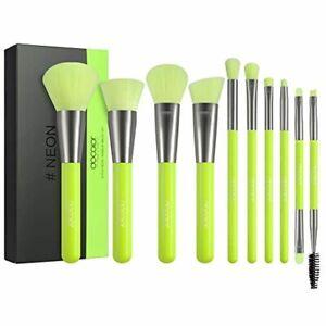 docolor makeup brushes 10 piece neon green makeup brush