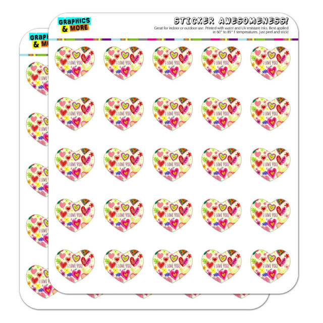 I Love You Valentine's Day Hearts Heart Planner Scrapbook ...
