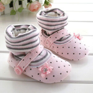 Soft Prewalker Pink Baby Girl Shoes Size 2 3 4 0 18 Months