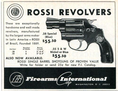 1967 small Print Ad of Firearms International Corp Rossi Revolver Pistol Gun