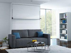 Schrankbett wandbett mit sofa leggio linea std 140 x 200 cm whitewood ebay - Wandbett mit sofa ...