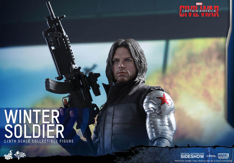 Soldado del Invierno Hot Toys 1:6 Capitán América: guerra Civil MMS351_902656 _ nunca quitado de la caja