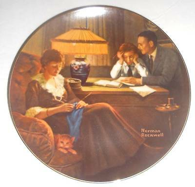 Norman Rockwell Father's Help 8-1/2 inch Collector Knowles Limited Edition Plate