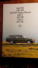 Prospekt Mercedes Benz T-Modell W123 240TD 300TDT 200T 230TE 250T 280TE 1980