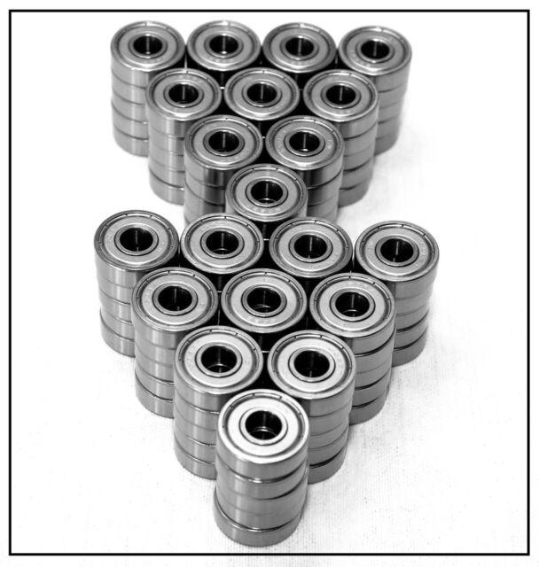 100 Stück Rillenkugellager 608 2Z Kugellager 608 ZZ 8x22x7 mm Miniatur