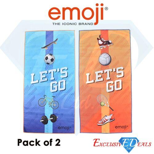 Pack of 2 Emoji Beach /& Sports Towel Microfiber Yoga Gym Fast Dry Lightweight