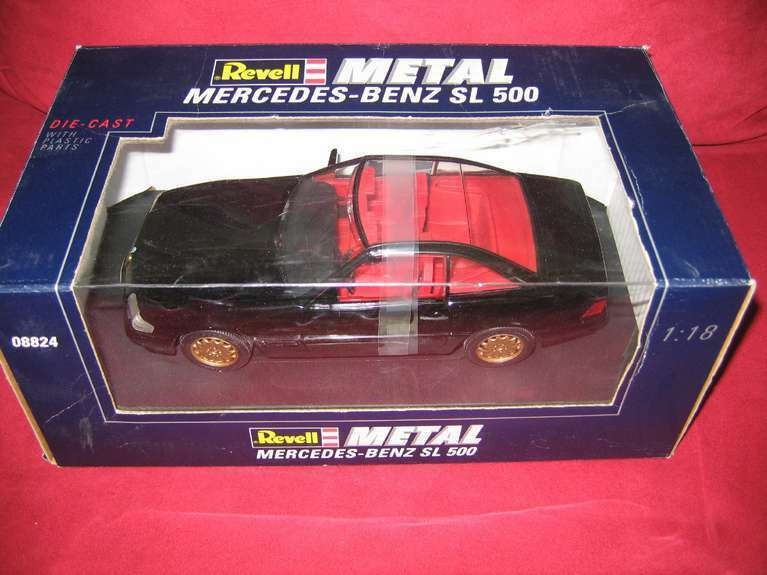 REVELL® METAL 08824 1 18 MERCEDES-BENZ SL 500 black  NEU OVP