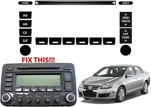Image Is Loading Replacement Radio On Stickers For 2005 2010 Vw