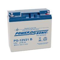 Pair - 2 X Power Sonic 12v 21ah Replace 17ah 18ah 19ah 20ah 22ah Agm/gel Battery