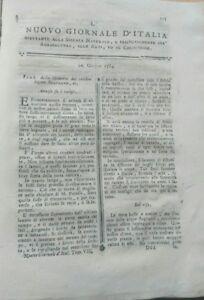 1784-NUOVO-GIORNALE-D-039-ITALIA-BONIFICHE-PALUDI-LUCCIOLE-LEGNO-PER-NAVI-ecc