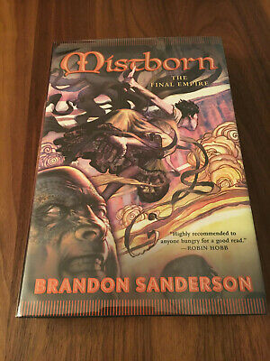Mistborn Final Empire ✎SIGNED by BRANDON SANDERSON New Collectible Gift Hardback