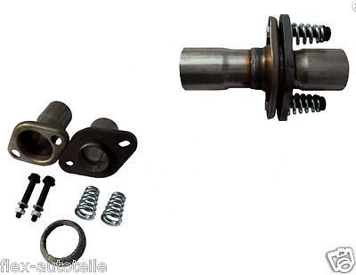 Reparaturflansch Auspuff End-//Zwischenstück Rohr Verbinder 180mm Ø46 mm Astra G