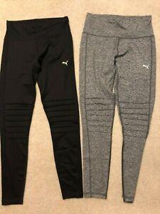 New-Women-039-s-Puma-Moto-Tight-Leggings-Yoga-Pants-Black-Gray-S-M-L-XL