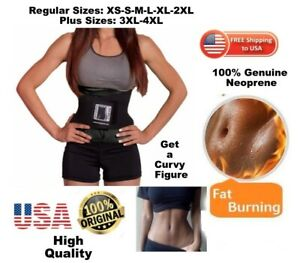Weight Loss Body Spa Hot Waist Trainer Usa Neoprene Authentic Body