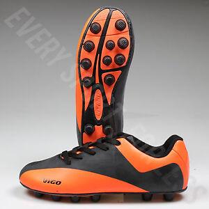 058b651dddc0 NEW Vizari Vigo FG Youth and Junior Soccer Cleats- Black   Neon ...