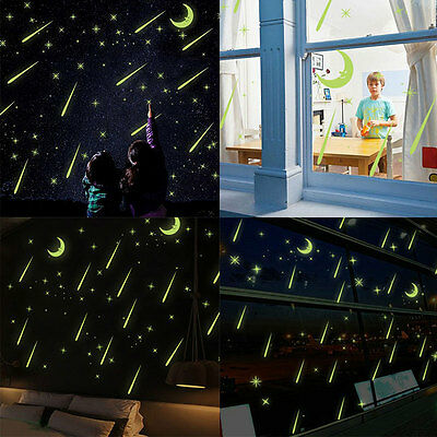 Meteor Shower Luminous Wall Stickers Livingroom Bedroom Home TV Wall Home Decor