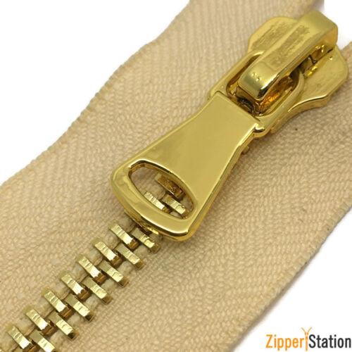 Nº 5 Poli Or Dents les fermetures à glissière//bout ouvert Metal Zipper