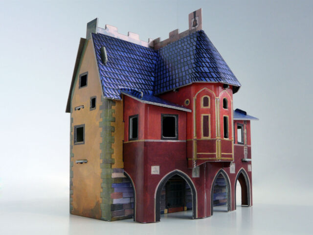 Building CITY HALL War Games Terrain Landscape Scenery Middle Ages 25-28 mm .