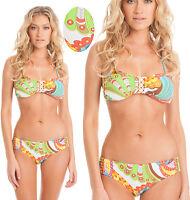 $168 Trina Turk Santa Cruz Buckle Bandeau Top & Surf Bottom Bikini Set