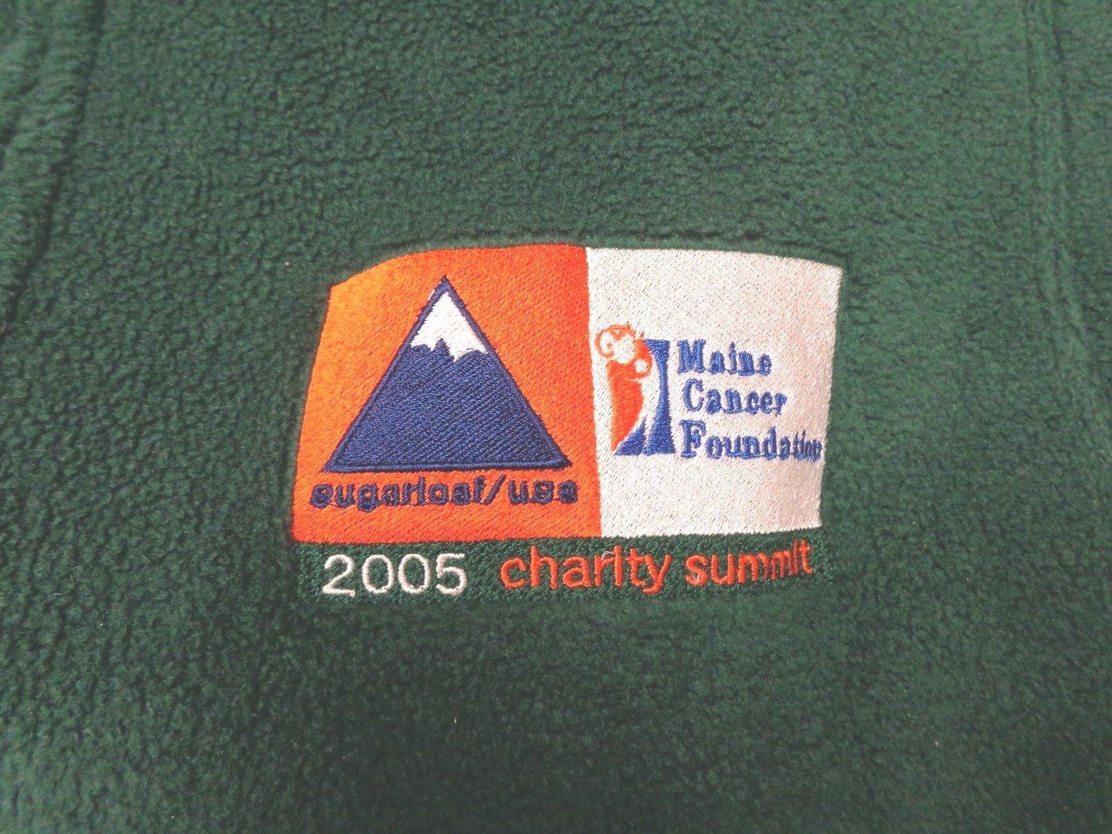 SUGARLOAF   USA MAINE CANCER FOUNDATION 2005 CHARITY SUMMIT GREEN FLEECE VEST L