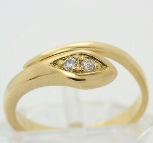 18kt-750-Schlangenring-in-Gold-Schlangen-Ring-Brillant-Brilliant-Brillantring
