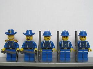 Lego-WESTERN-AMERICAN-CIVIL-WAR-Blue-UNION-Soldiers-Minifigs-Cavalry