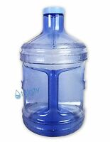Bpa Free 1 Gallon Reusable Plastic Water Bottle Blue Jug Container Canteen