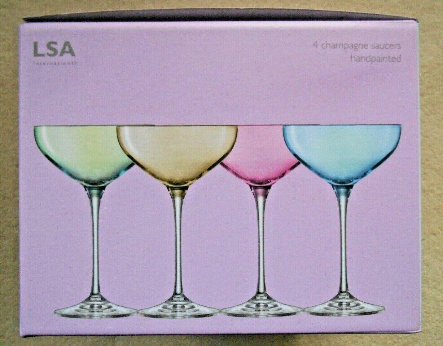 marca LSA  Polka Polka Polka  Champagne piattino x 4  spedizione gratuita!