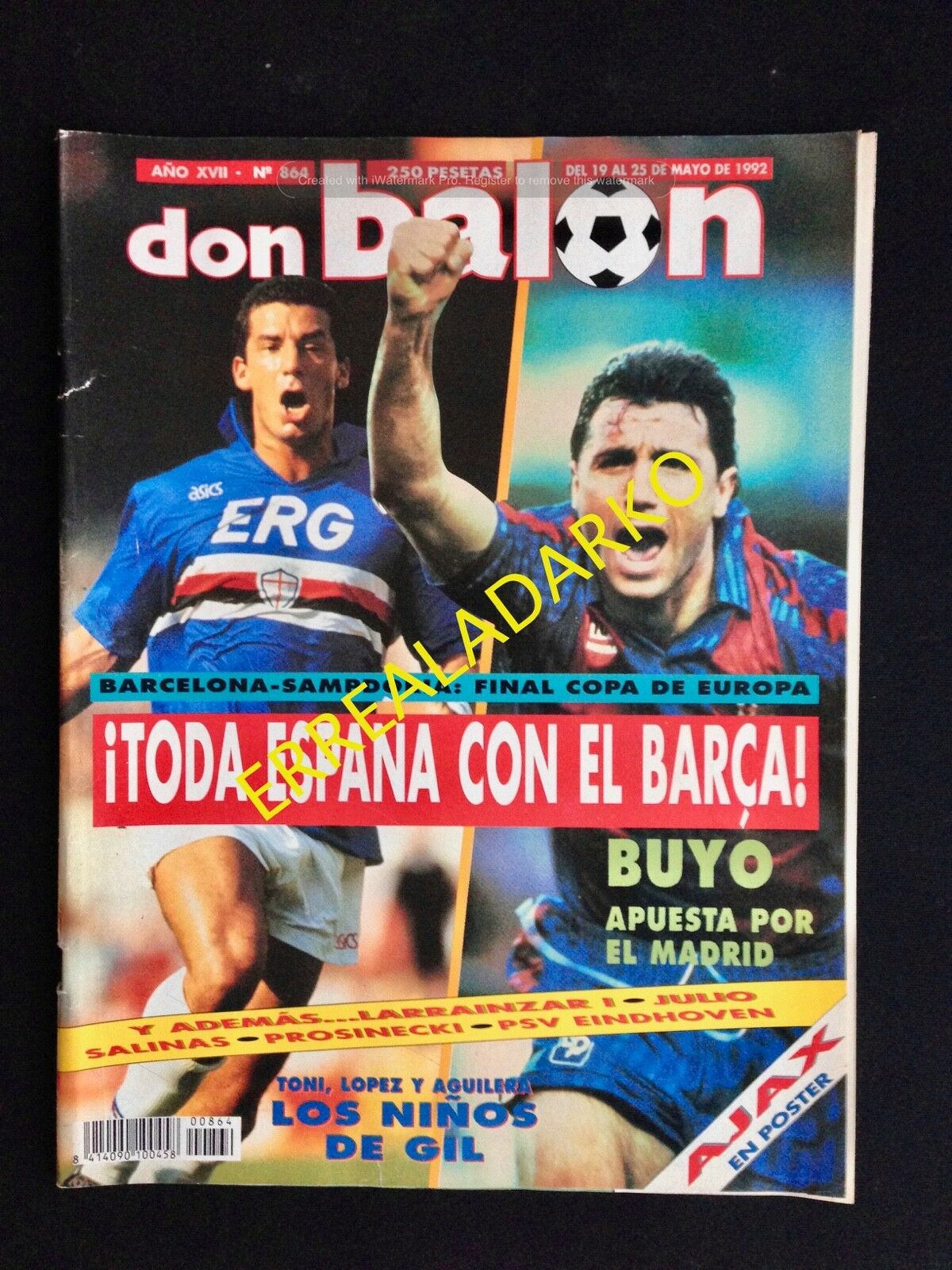DON BALON 864 BARCELONA BARÇA - SAMPDORIA - AJAX - TORINO - REAL MADRID ETC