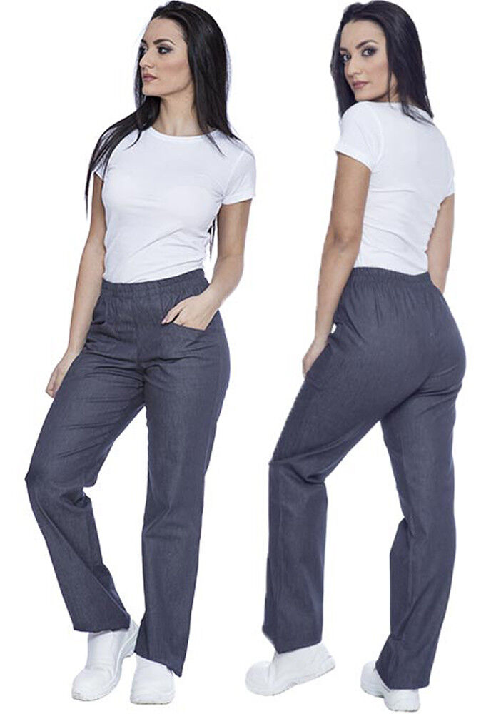 TROUSERS JEANS ELASTICATED WORK WOMAN COOK PIZZAIOLA FINANCE MANAGE L240 GP