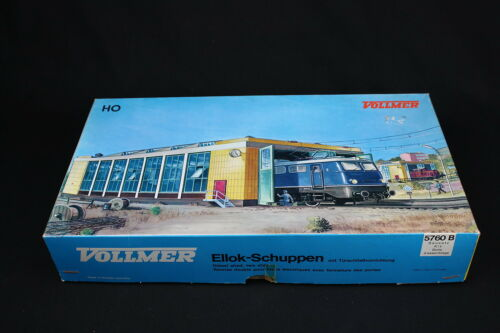W284 VOLLMER Train Ho Maquette 5760 B Remise double locomotive electrique stall