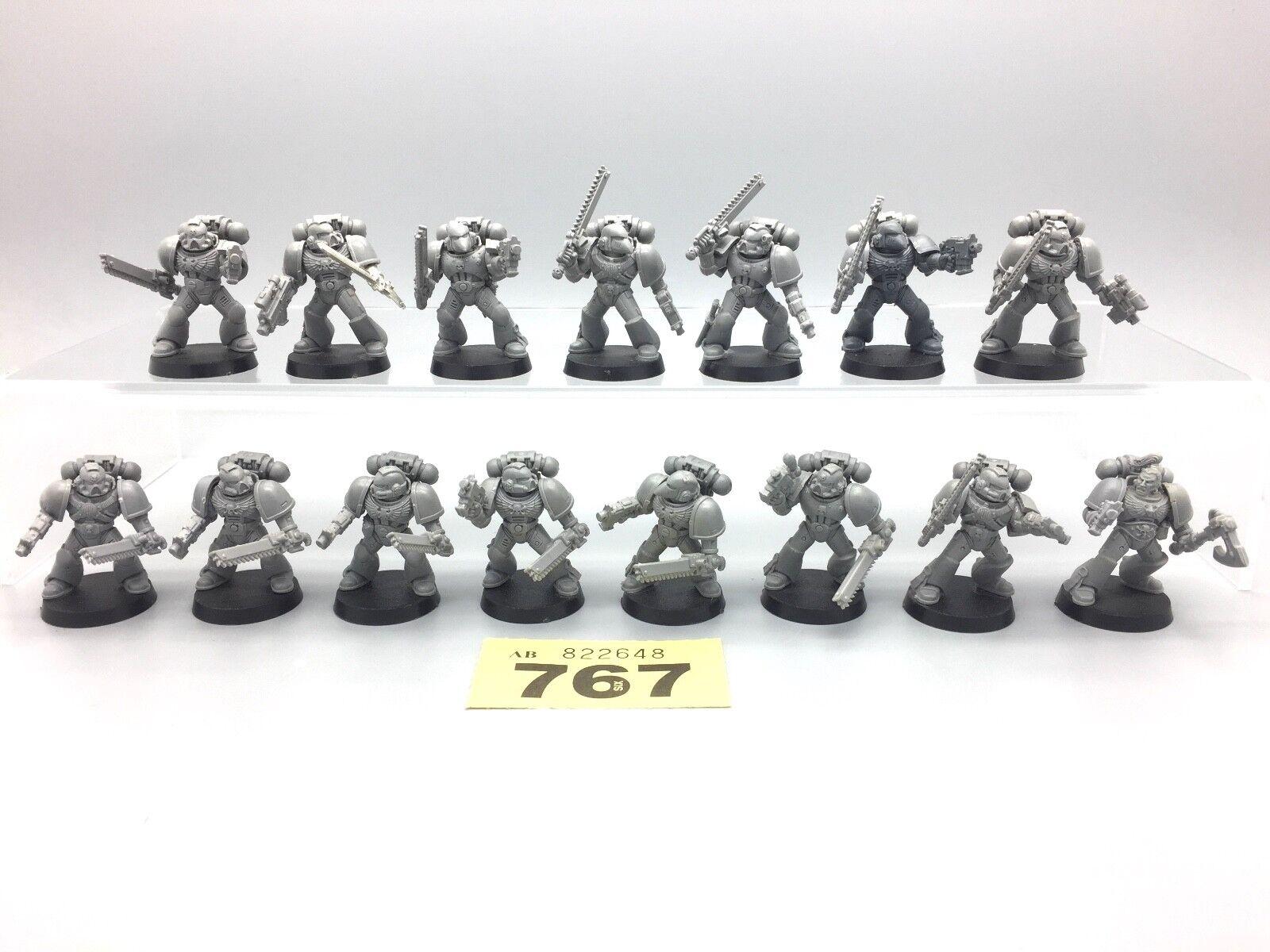 Warhammer 40,000 Espace Marines Adeptus Huguette Assault Marines X 15