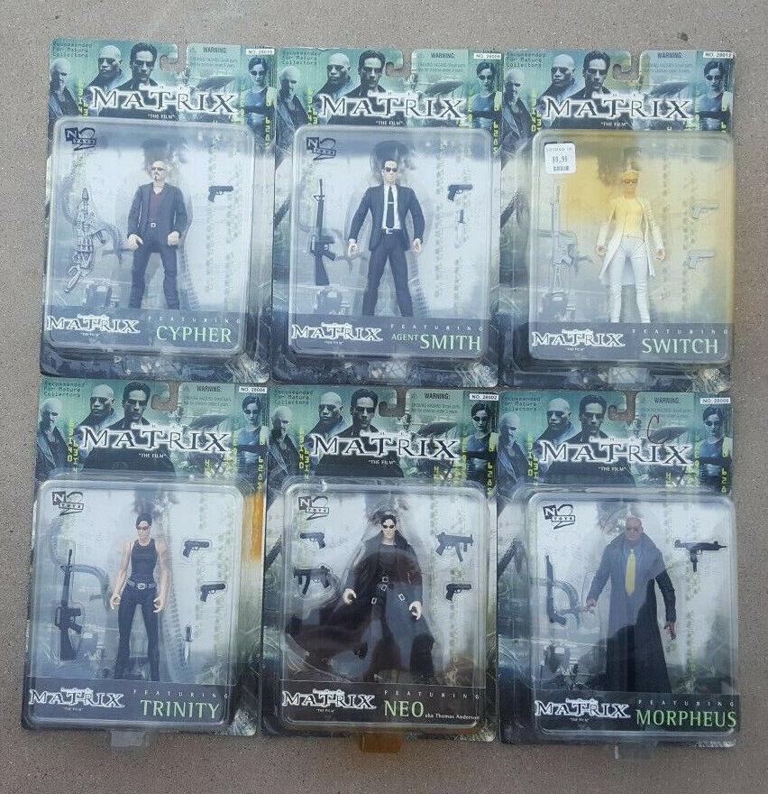 The Matrix Sealed cifra collezione completare Set of 6 Lot NEO MOC N2giocattoli 1999