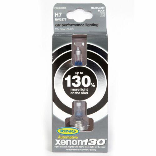 Ring Xenon130 130/% Brighter H7 Headlights Car//Van Performance Bulbs RW3377 Pair