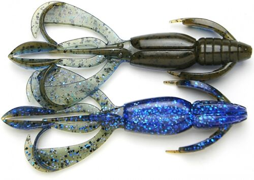 "Keitech Crazy Flapper Bass Fishing Soft Plastic Creature Bait Jig Trailer 2.8/"""