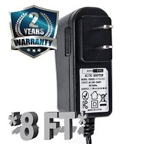 12 Volt 1 Amp Power Adapter, AC to DC, 2.1mm X 5.5mm, 12v 1a Power Supply 8 Foot