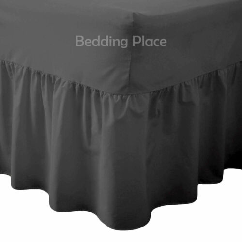 100/% Egyptian Rich Cotton Extra Deep Frilled Valance Fitted Sheets In 15 Colours