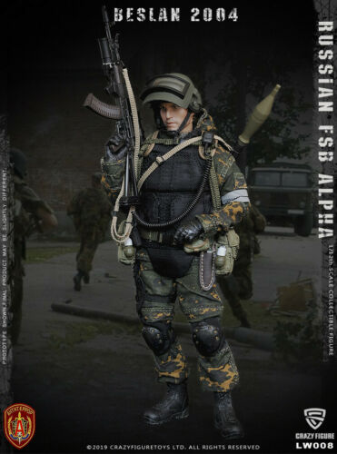 Crazy Figure 1//12 LW008 Russian FSB Alpha Special Forces Grenadier Action Figure