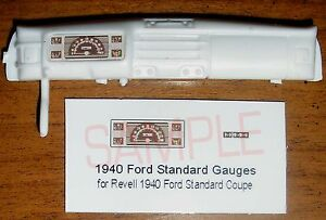 1940-FORD-STANDARD-COUPE-GAUGE-FACES-for-1-25-scale-REVELL-KITS