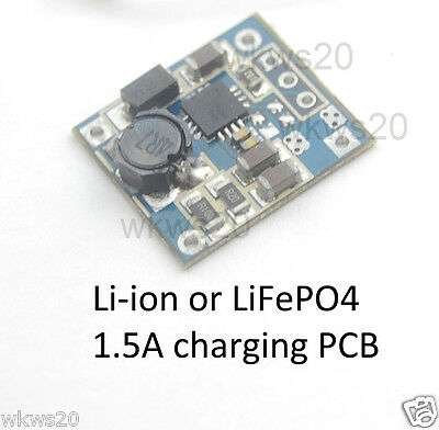 4.5-9V 1.5A Lithium ion or iron phosphate LiFePO4 charge module PCB 18650 A123
