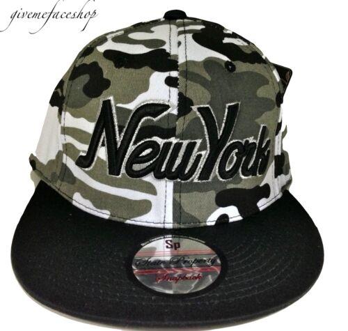 NY camouflage snapback cap bling grey tyga baseball flat peak fitted hats