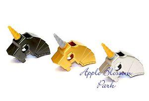 NEU-Lego-Lot-3-Burg-Pferd-Schlacht-Helm-Minifiguren-Animal-Silber-Grau-Gold-Waffe