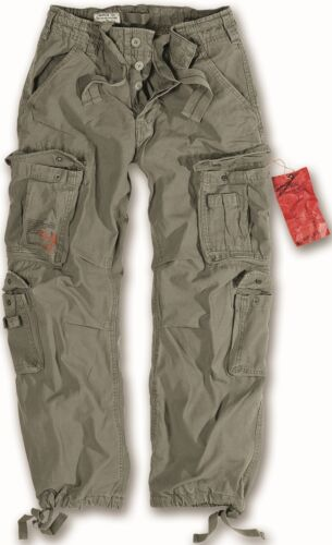 Surplus Aereo Combat Pantaloni da uomo di grandi dimensioni Vintage Cargo lavoro Pantaloni Oliva