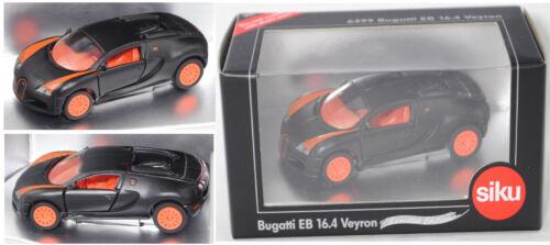 Siku Super 6499 00701 IE Bugatti Veyron EB 16.4 schwarz//orange Sondermodell 1:55