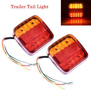 2x-12V-LED-Feux-Arriere-Remorque-Camion-Indicateur-Lampe-Queue-Arret-Caravane-PA