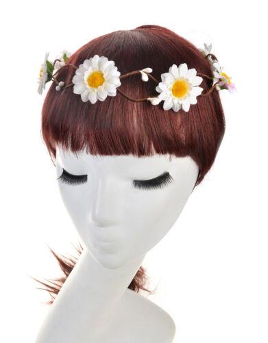 Wedding Bridesmaid Boho Floral Flower Festival Forehead Headband Hair Garland
