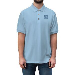 Create Ripples Men's Jersey Polo Shirt