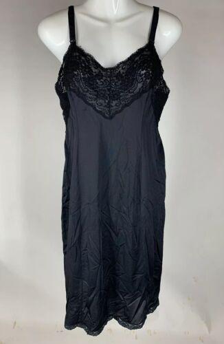 Vintage Wonder Maid Full Slip Black Size 40